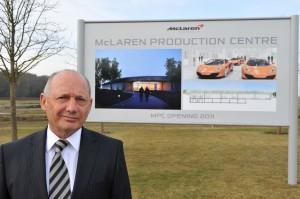 Ron Dennis at the launch of McLaren Automotive