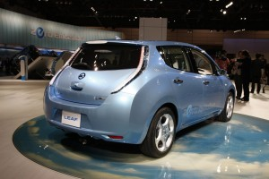 Nissan Leaf production EV
