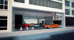 Image of what the McLaren Automotive retail stores will look like