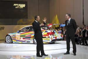 17 BMW Art car being unveiled 1 June