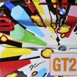 Details of the Jeff Koons BMW Art Car