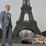 Jeff Koons 17 BMW Art Car at Eiffel Tower 1 June 2010