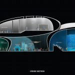 Cross section: Batumi Aquarium © Henning Larsen Architects