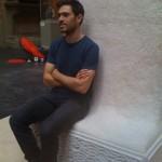 Max Lamb and his bench ©Nargess Shahmanesh Banks
