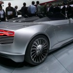 Audi e-tron Spyder is an electric concept car and part of the marque's e-tron family of zero-emission vehicles ©Nargess Shahmanesh Banks