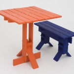 Happiness in Daily Life table and bench by Fabien Cappello for the Royal College of Art