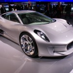 Jaguar C-X75, an electric concept car with a range of 560 miles, will do 0-60mph in 3.4 seconds and accelerate on to 205mph