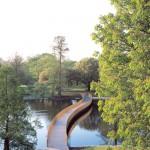 John Pawson Sackler Crossing Royal Botanic Gardens Kew as part of Design Museum exhibition Plain Space photo© Richard-Davies