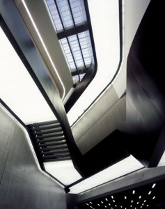 Inside Zaha Hadid's MAXXI National Museum of XXI Century Arts interior, Rome ©Helene Binet