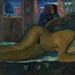 Paul Gauguin, Nevermore O Tahiti 1897, ©Courtauld Gallery, London, Oil on canvas, 600 x 1160 mm