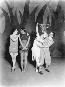 Leon Woizikovsky, Lydia Sokolova, Bronislava Nijinksa and Anton Dolin in Le Train Bleu, Photographed by Sasha in 1924, Diaghilev and the Golden Age of the Ballets Russes 1909-1929- photo© V&A images