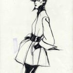 Drawing Fashion at the Design Museum - Antonio. Karl Largerfeld, Vogue France.1972