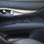 Infiniti M with hand-buffed Japanese ash wood trim with powdered silver finish