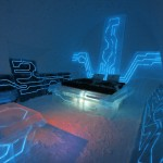 Disney's Tron Legacy inspired The Legacy of the River suite at the Ice Hotel ©Rousseau Design & I-N-D-J