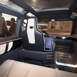 VW electric taxi concept interior takes strongly from personal electronic devices