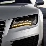 Signature LED lights on the Audi A7 Sportback
