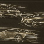 Sketches of the Audi A7 Sportback