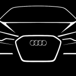 Audi A6 sketch showing strong face design