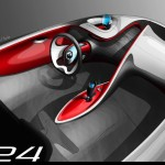 An sketch of the interior concept for the 2009 Renault DeZir
