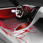 Renault DeZir concept interior mixes soft touch material with high-tech digital technology