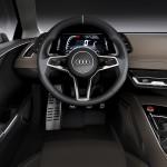 Audi Quattro concept interior points at future design