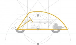 Geometric analysis of Voiture Minimum by Le Corbusier ©The MIT Press