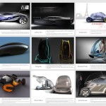 All the projects for the Citroen-sponsored RCA vehicle design students
