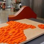BAMscape, Model study; fiberboard, paint, Model fabrication: Robert Rhee and Faulders Stuido, Faulders Studio part of Crafting Architecture exhibition