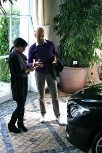 BMW 6 Series exterior designer Nader Faghihzadeh discusses the design of the car with Nargess ©RL Banks