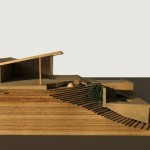 Ridge House: Process models; chipboard, basswood, wire, graphite. Office of Cary Bernstein Architect part of Crafting Architecture exhibition