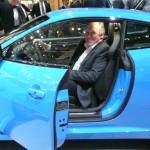 Ian Callum inside the Jaguar XKR-S at the Geneva Motor Show 2011 Photo© Nargess Shahmanesh Banks