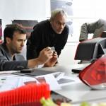 Designer Paul Cocksedge working with BMW designers