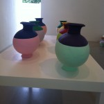 Ai Weiwei Coloured Vases, 7 Han Dynasty Vases 2009, Lisson Gallery, photo© Nargess Shahmanesh Banks