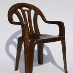 Plastic Chair in Wood by Maarten Baas