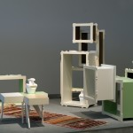 Carpet, 2006 by Eilon Armon; Shelf & tables: Sampling Sehnsucht (Desire) by Daniel Juric; and Vases: Golden Age by Meirav Peled Barzilay