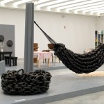 Hammock: BLESS No. 28, Fatknithammock by BLESS; Seating object: AFRODITI by Laura Bernhardt