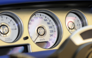 Rolls Royce bespoke white instrument dials with mother of pearl accents