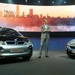 BMW Group director of design Adrian van Hooydonk presents the i3 and i8