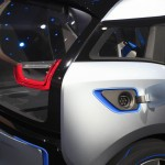 BMW i3 detail showing the electric plug-in