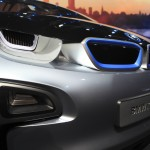 BMW i3 front design showing grill covered in blue