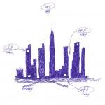 stillspotting nyc: Manhattan. Snøhetta. Concept sketch for To a Great City, 2011. Ink on paper © Snøhetta 2011