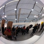 Anish Kapoor at the Lisson Gallery in Frieze Art Fair. Photo© Nargess S Banks