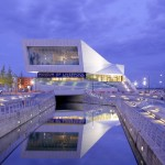 Liverpool National Museum at night designed by 3XD © Phillip Handforth