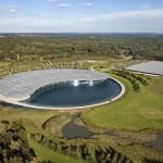 Overview of McLaren Technology Centre headquarters, UK