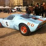 Vintage car show in Bordeaux