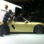 The 2012 Porsche Boxter at the Geneva Motor Show