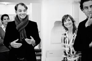 BMW Group design director Adrian van Hooydonk with Carole Baijings of Scholten & Baijings