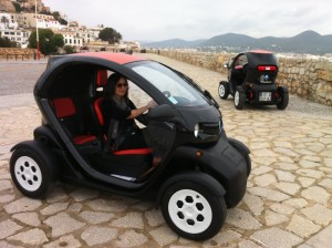 Driving the Renault Twizy in Ibiza