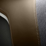 Combination of leather and wool on the seats of BMW i3 special London edition concept car for the Olympics
