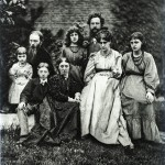 The Morris and Burne-Jones family at The Grange, 1874 © William Morris Gallery
